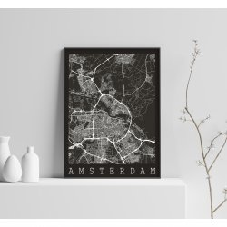 AMSTERDAM BLACK CITY MAP