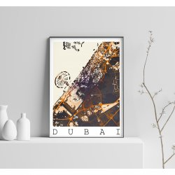 DUBAI VINTAGE CITY MAP