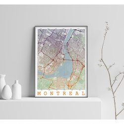 MONTREAL VINTAGE CITY MAP