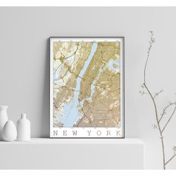 NEW YORK VINTAGE CITY MAP