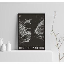 RIO DE JANEIRO BLACK CITY MAP