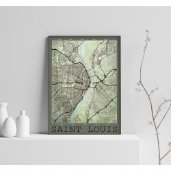 SAINT LOUIS VINTAGE CITY MAP