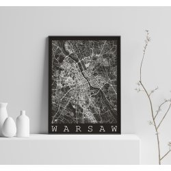 WARSAW BLACK CITY MAP